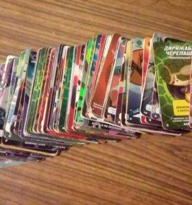 Карточки черепашки ниндзя вместе с коробкой