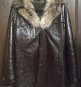 Мужская зимняя куртка с мехом - дубленка