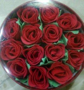 Мыло в форме розы