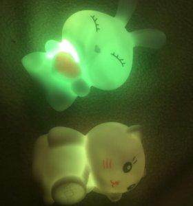 Светильник кот и заяц