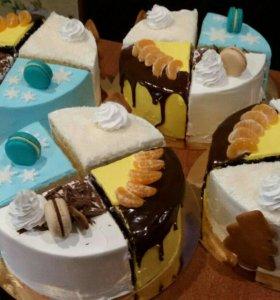 Заказ тортов,четвертинок ассорти