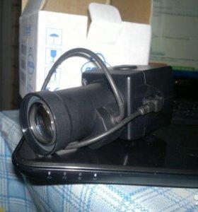 Камера наблюдения pelco + объектив