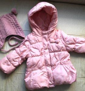 Куртка на осень/весну Zara; шапка