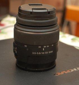 стандартный зум Sony SAM 18-55/3.5-5.6 DT