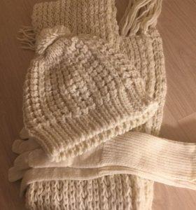 Комплект (шарф, перчатки, шапка)