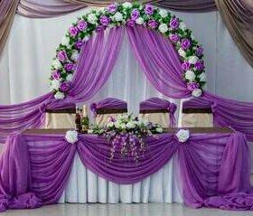 Драпировка зала на свадьбу.