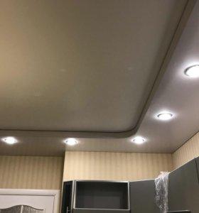 Натяжные потолки ,подвесные потолки