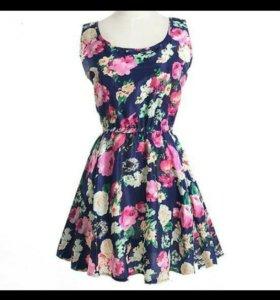 Новое шифоновое платье с биркой