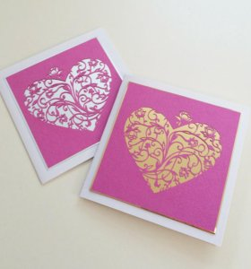 Универсальная открытка ручной работы «Ажурное серд