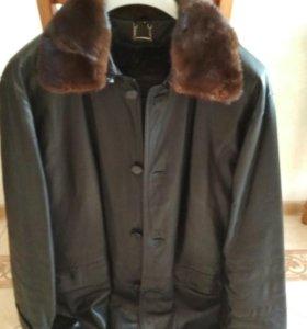 Кожаная куртка с норк. вар-ком и под-жкой из крола