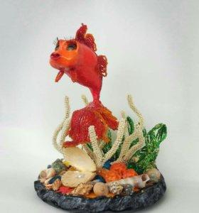 Рыбка из бисера