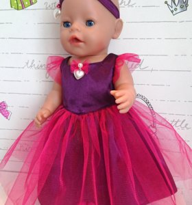 Одежда для кукол. Платье для Беби Борн