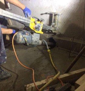 Алмазное сверление отверстий, бурение бетона