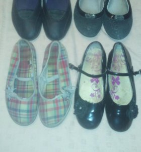 4 пары обуви на девочку