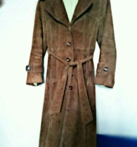 Натуральное замшевое пальто