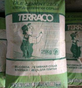 Клей плиточный серый Terraco