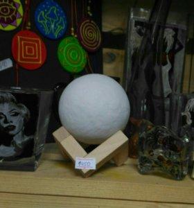 Светильник Луна 8 см в диаметре, 3 цвета