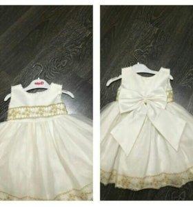 Платье для девочки! Нарядное платье.Р-р 74/86