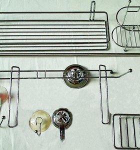 Аксессуары для ванной туалета кухни хромированные