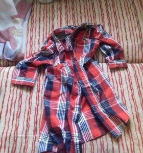 Рубашка женская удлинённая