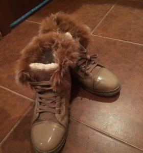 Зимние ботинки кеды