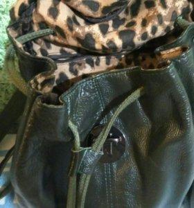 Рюкзак кожа,новый