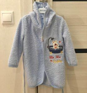 Детский махровый халат новый