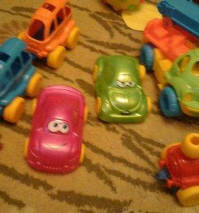 Машинки, поезд и кран