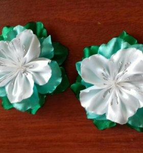 Канзаши резиночки-цветочки
