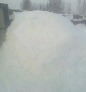 Чистка снега в ручную