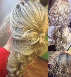 Вечерние и свадебные причёски