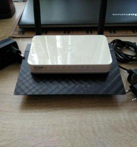 Роутер ASUS RT-12+Switch+web камера в подарок