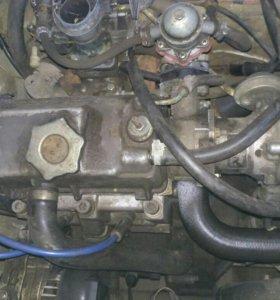 Двигатель с каробкой от Оки