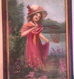 Девочка с садком.