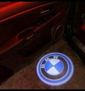 Подсветка дверей автомобиля BMW Лада