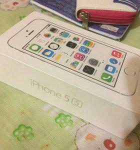 Коробка от айфон 5s silver