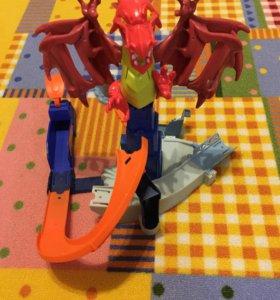 Трек Hot wheels с драконом