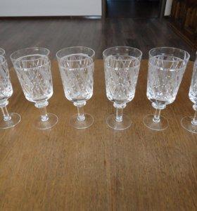Хрустальные бокалы для вина 6 штук.