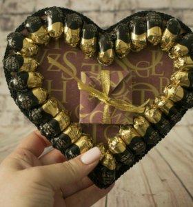 Сладкое сердце в подарок для любимой или любимого)