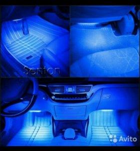 Подсветка салона авто светодиоды тёмно-синий