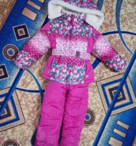 Зимния куртка с комбинезоном