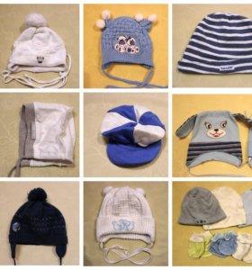 детские шапки от 0 до 6 мес.