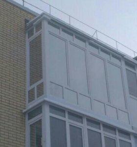 Окна балконы из пластика, алюминия