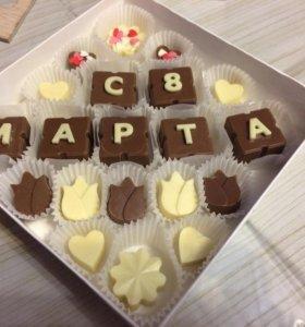 """Шоколад ручной работы:Подарочный набор """"С 8 марта"""""""