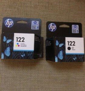 Картридж HP 122 цветной и черный по 400