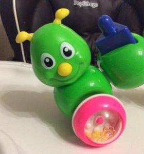 Гусеница игрушка развивающая
