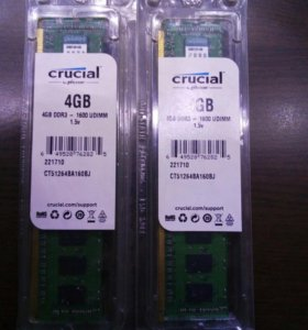 Kingston Crucial CT51264BA160BJ 8GB DDR3