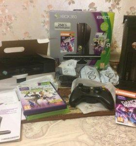 Продам Xbox 360 с кинект +игры