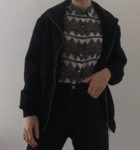 шерстяное пальто-бомбер