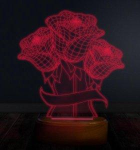 3D лампа ночник